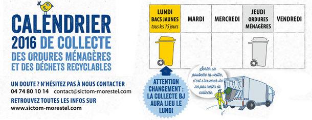 Calendrier Sictom.Site Officiel De La Mairie De Cessieu Actualite
